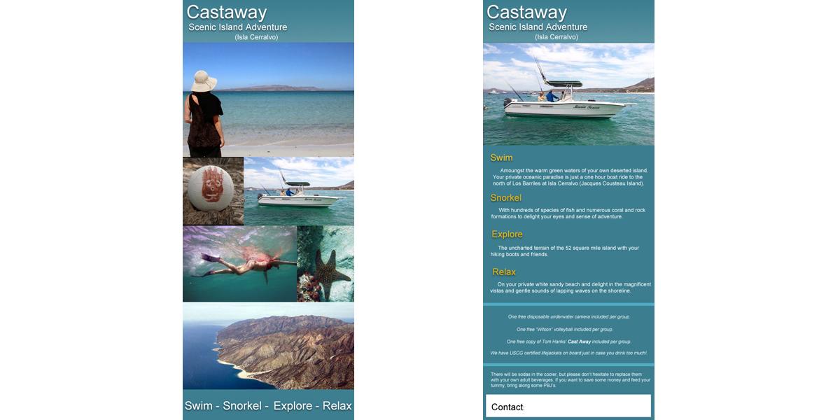 HighTree Studios. Flyer for Castaway Island Adventures